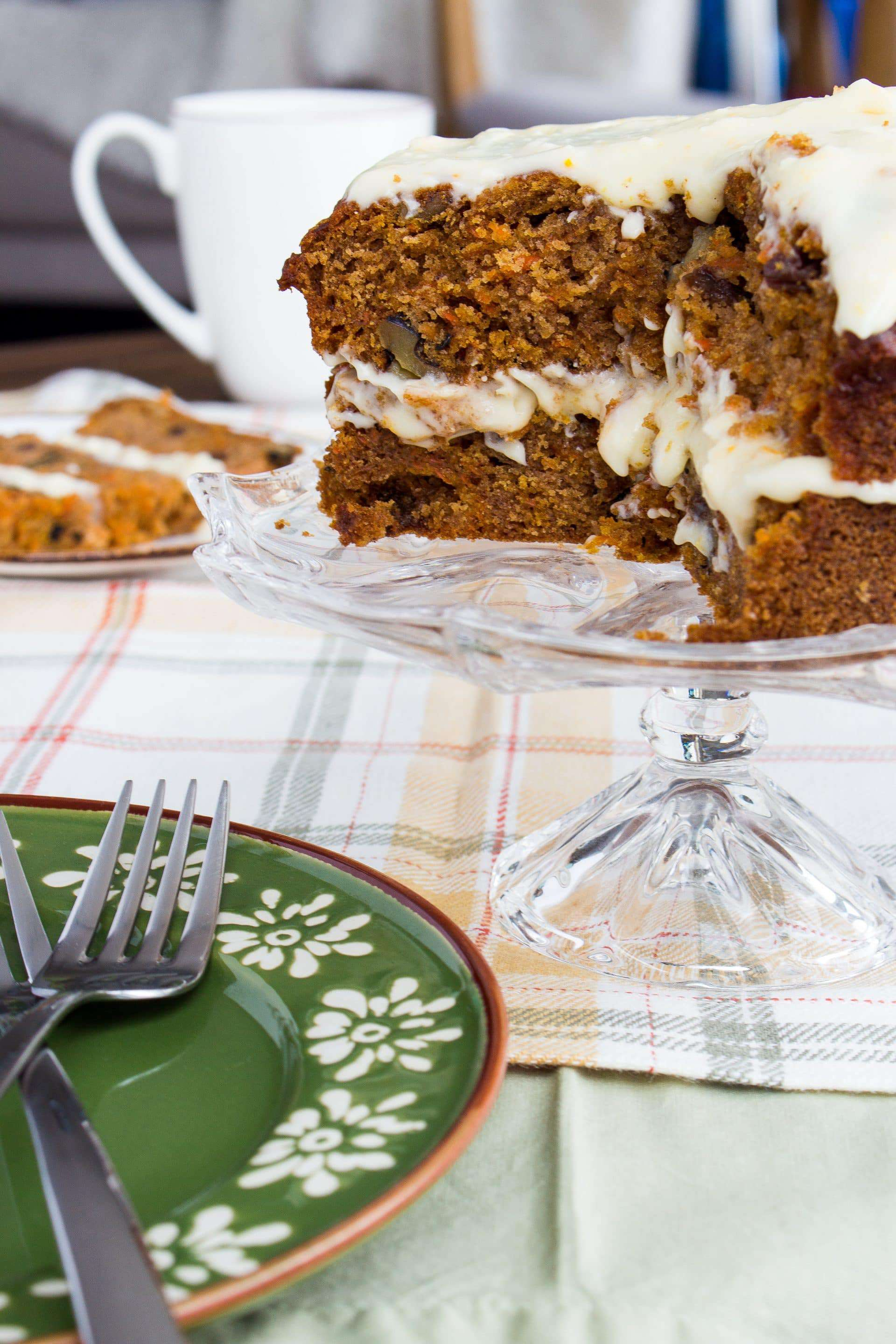 Rum Carrot Cake With A Boozy Cream Cheese Frosting