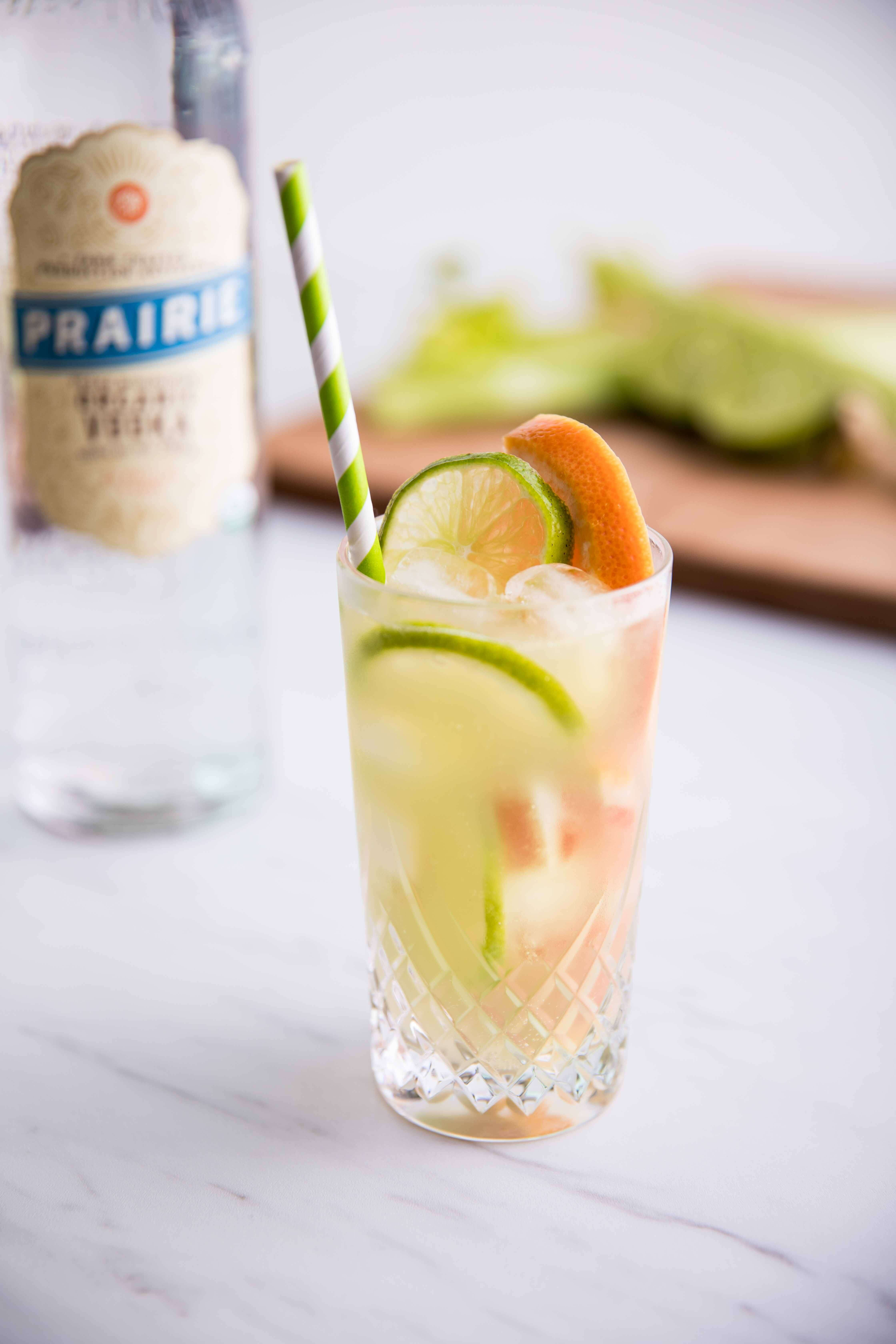 Luck of the Celery – Celery and Grapefruit Cocktail made with Prairie Organic Vodka