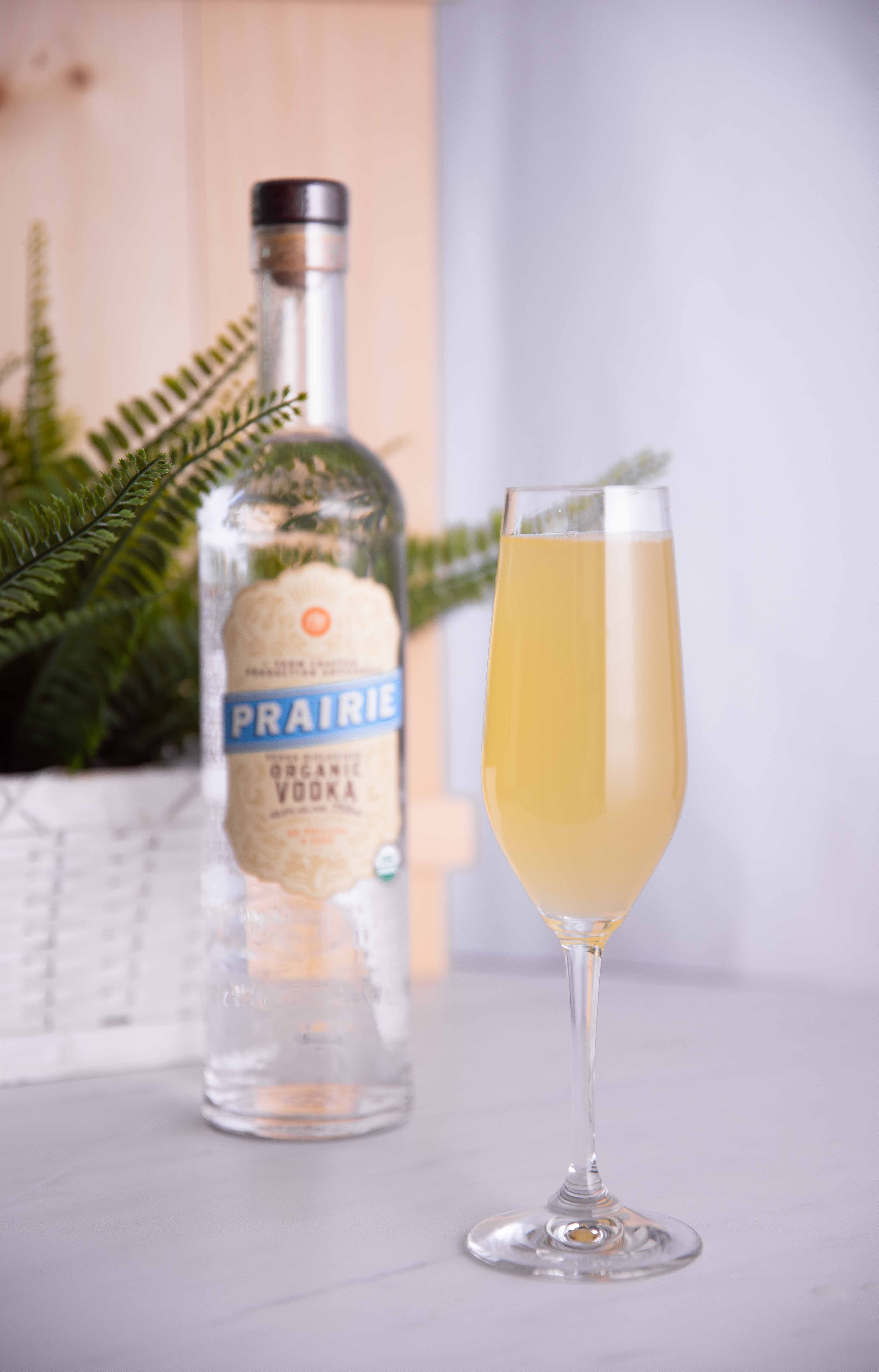 In Passionfruit We Trust – Passionfruit & Prairie Organic Vodka Bubbly Cocktail