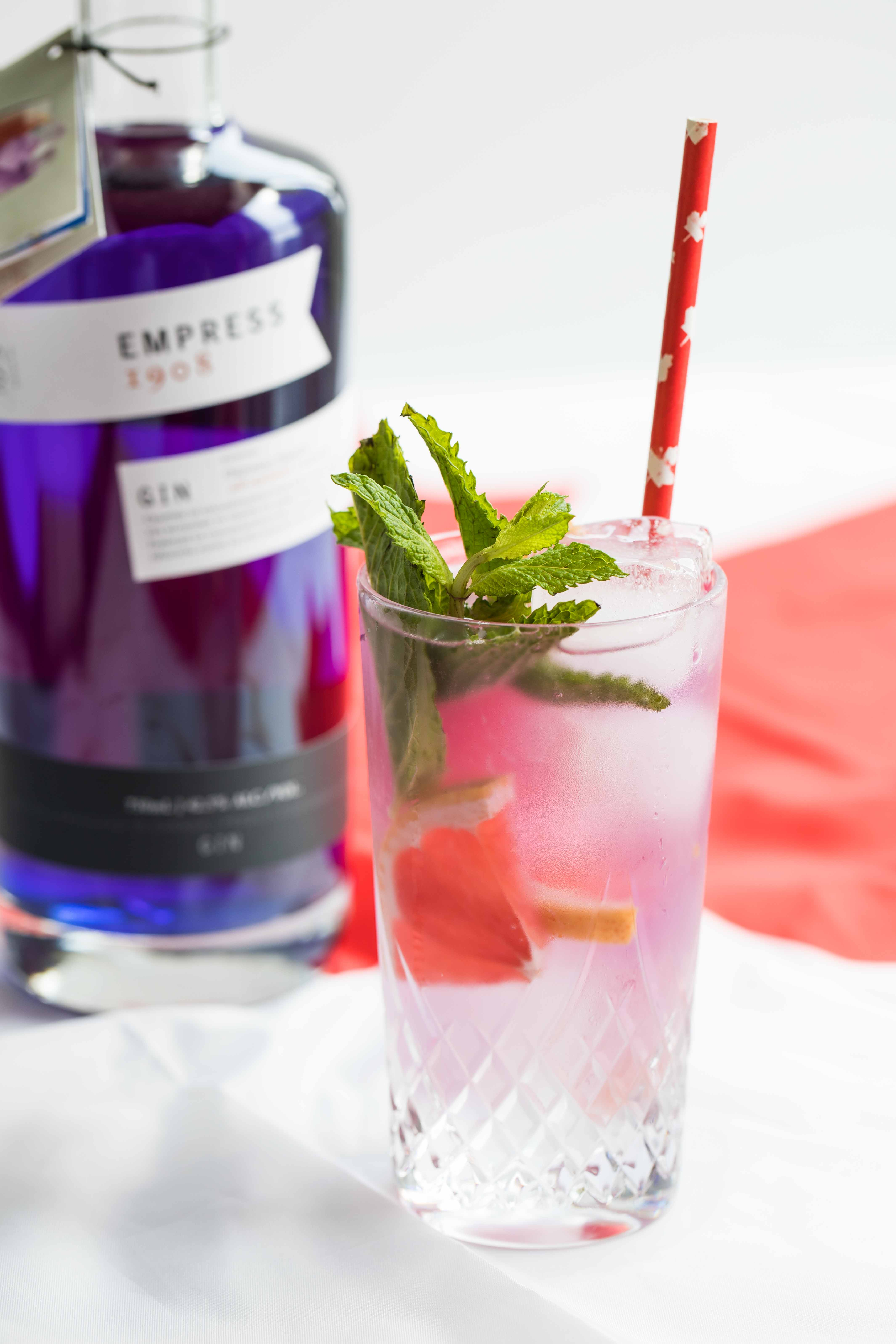 Exploring Canada with Cocktails: British Columbia's Empress Gin Grapefruit Cider Cocktail