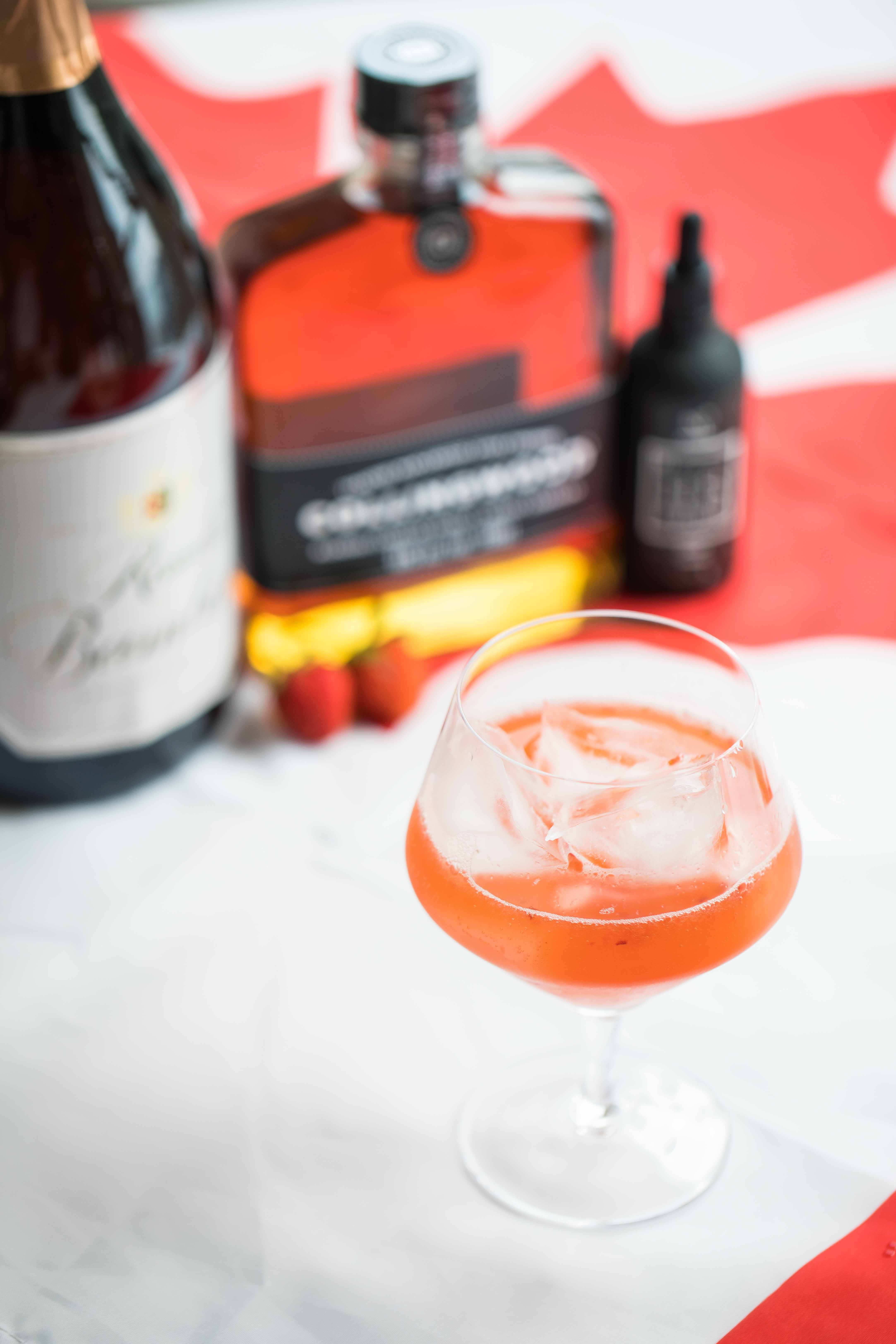 Exploring Canada with Cocktails: Ontario Rye Strawberry Cocktail