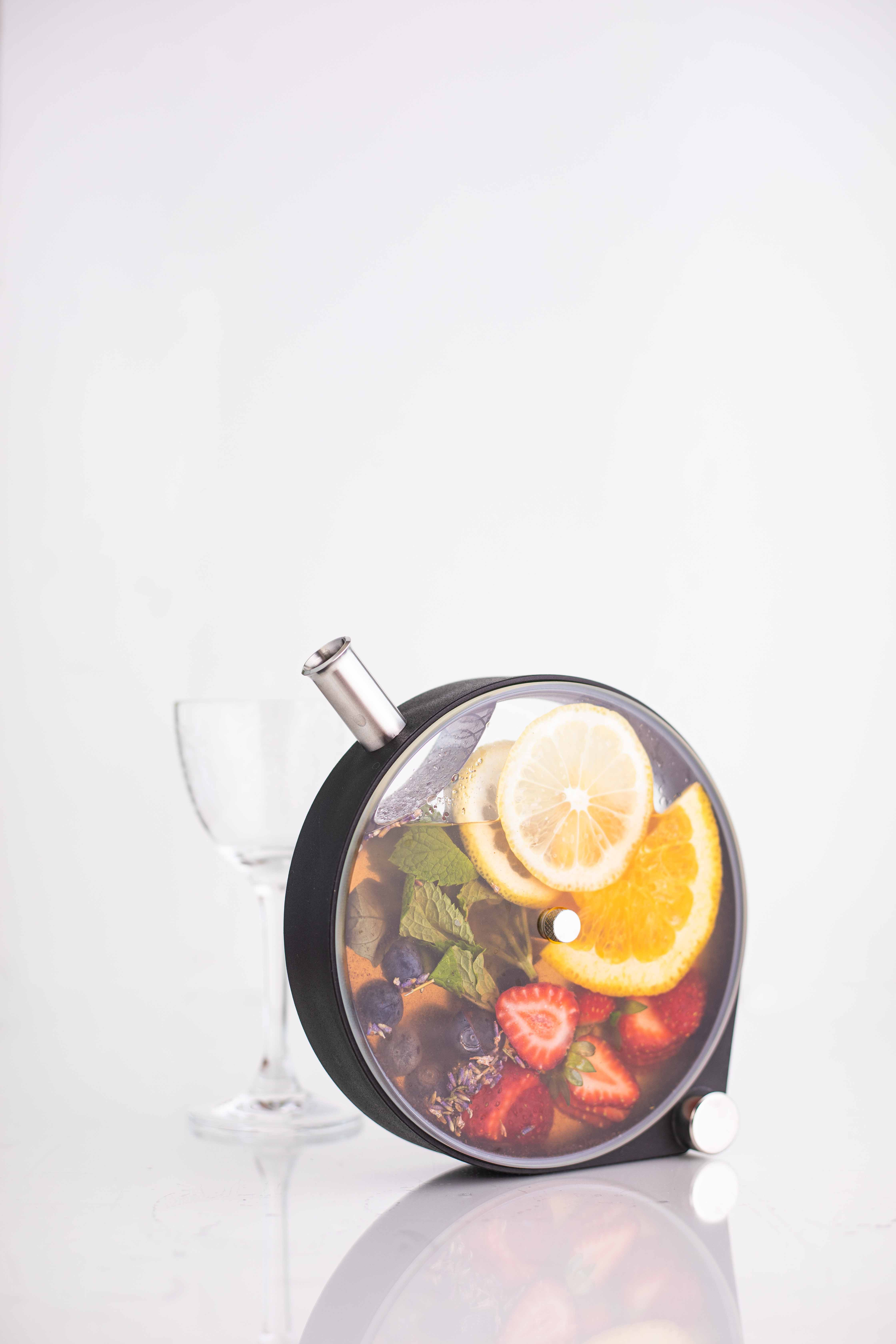 #PridePour Rainbow Porthole Infused Cocktail – Tequila, Strawberry Mint