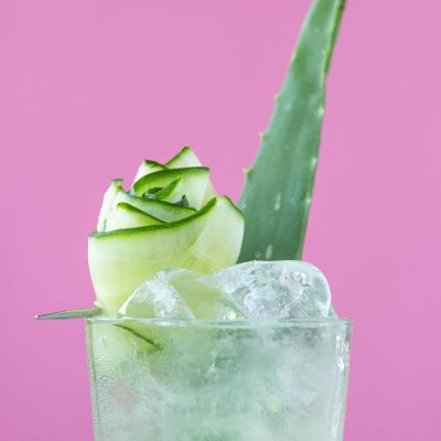 Aloe, Melon and Cucumber Cocktail