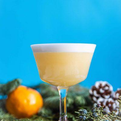 Cedar Clementine Pisco Sour