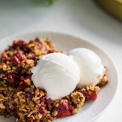 Strawberry Rhubarb Crisp-2